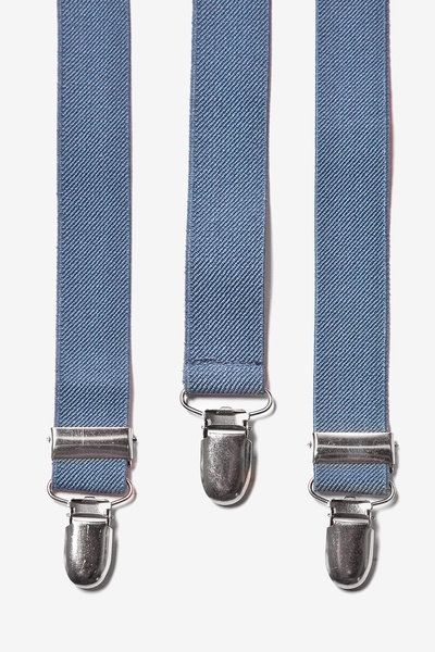 Dusty Blue Suspenders. Mens Suspenders. Groomsmens Blue by Tietle, $15.00