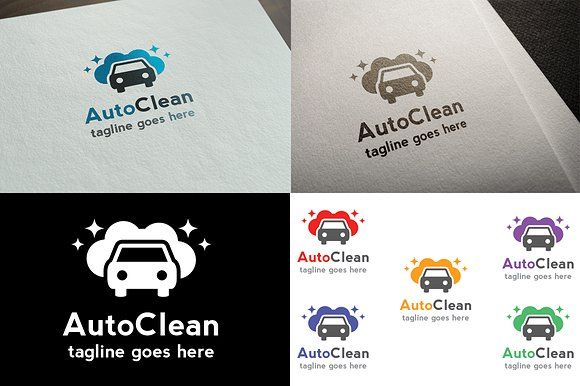 AutoClean Logo Template by It's a Small World on @creativemarket