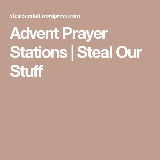 Advent Prayer Stations | Steal Our Stuff