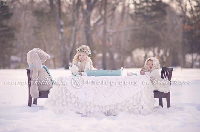 Outdoor Tea Party - 125 Family  Sibling Photos: Posing Ideas  Inspiration - Harvard Homemaker