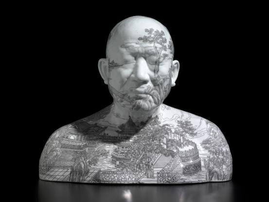 Ah Xian, China China - Bust 71, 2002, porcelain, 25.5 x 32.6 x 23.6 cm