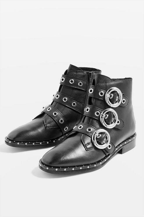 0dfa6d06271 Womens Alfie Buckle Ankle Boots - Black