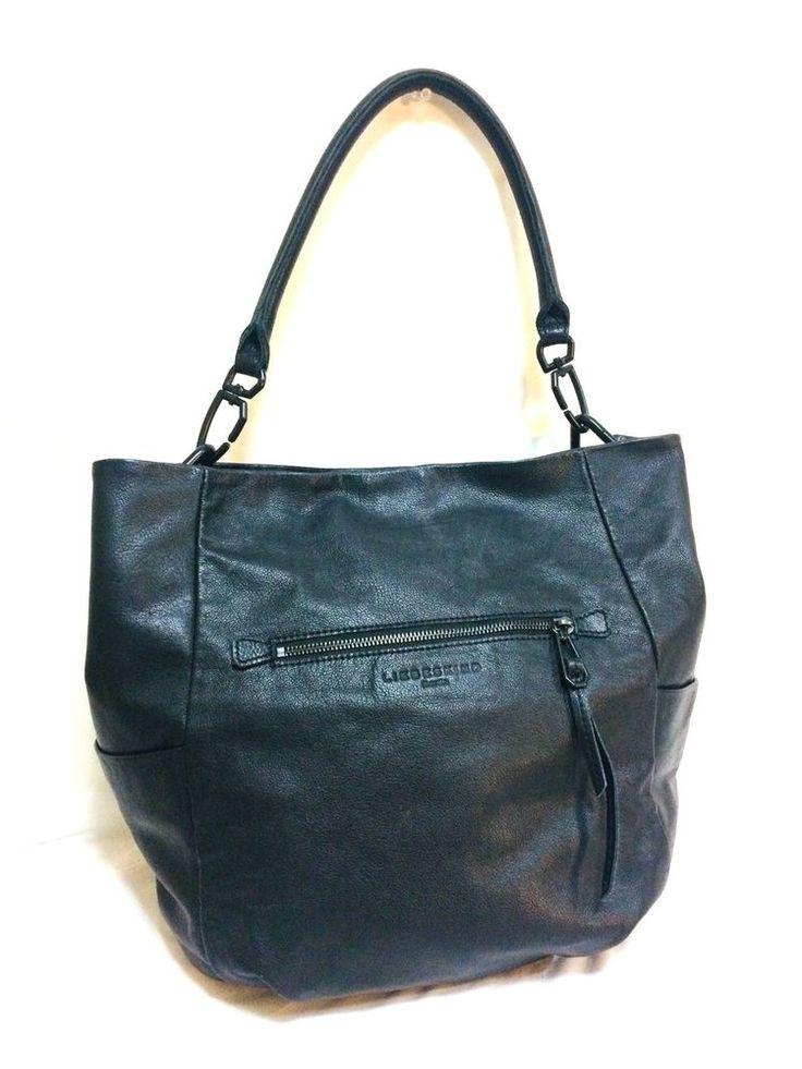 Liebeskind Berlin, large, Black, Shoulder handbag, %100 Cow Leather. #LiebeskindBerlin