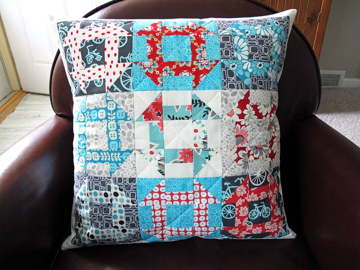 on VeronicaMade.Wordpress --- the churn dash pillow her friend Tricia made
