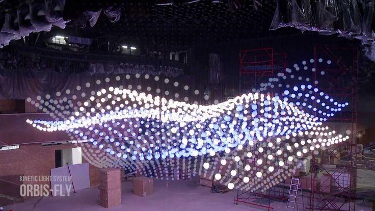 Kinetic Lighting System  ORBIS-FLY / Светодиодная кинетическая система O...