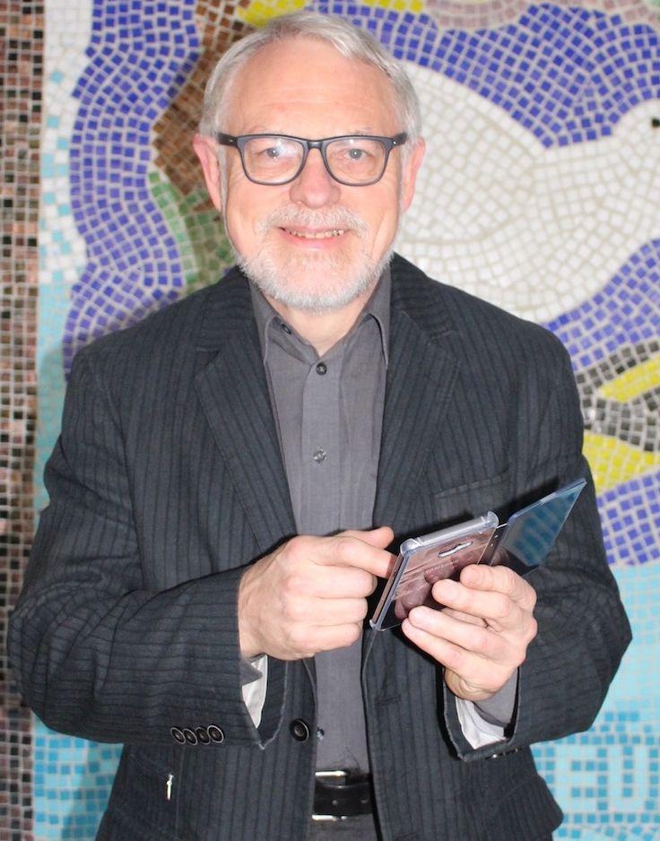 """Peter Jöckel, Direktor """"Nutzt das Smartphone!"""" fordert der Rektor des Krupp-Gymnasium Duisburg 30.3.2017"""