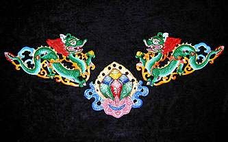 Nepalese Dragons and Lotus