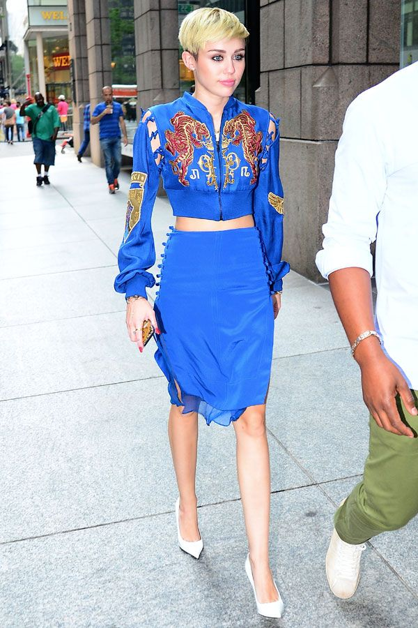 Miley Cyrus in Emilio Pucci at the SiriusXM Studios on June 27, 2013