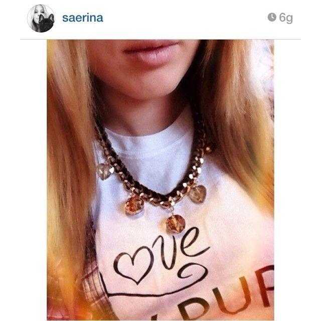 Golden chain necklace & brown DIY ( -> http://www.pinterest.com/pin/312015080405413401 )  www.facebook.com/levaje.crafts http://instagram.com/levaje