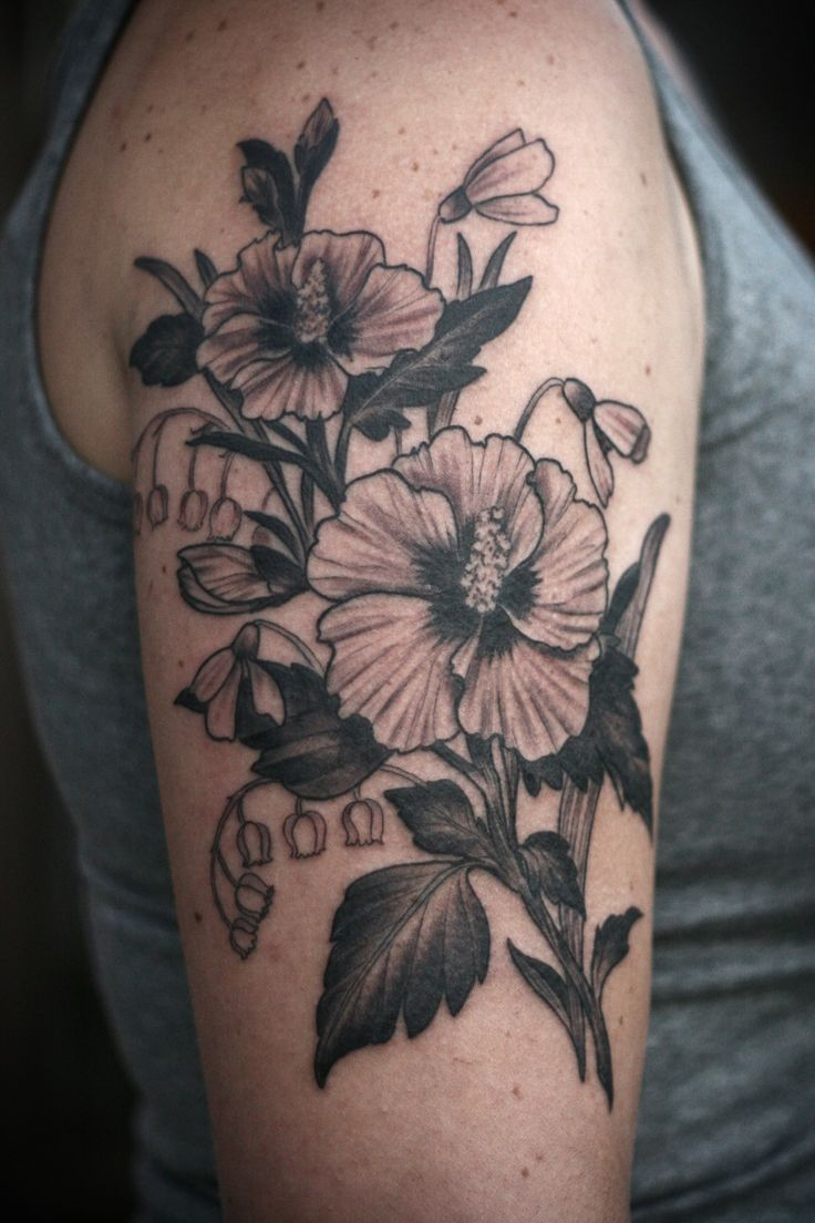 Lily Of The Valley Tattoo: Rose Of Sharon, Lily Of The Valley, And Snowdrops For Jaci