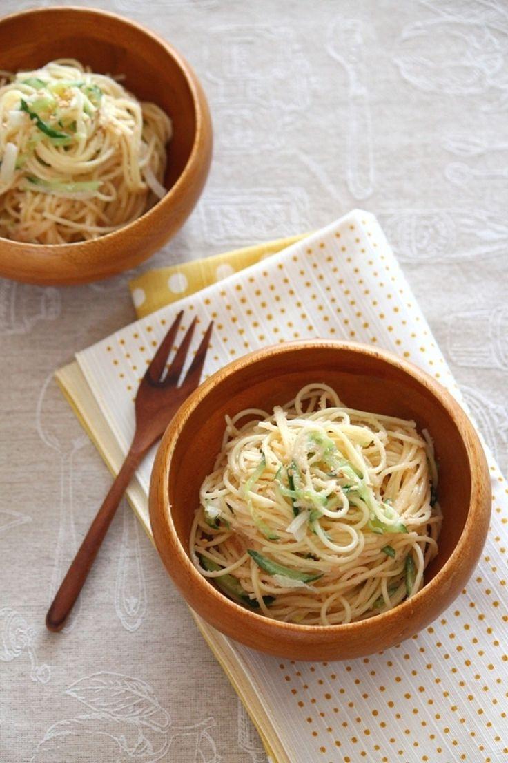 たらこパスタサラダ。 by 栁川かおり / マヨネーズ少なめで、さっぱり食べられるパスタサラダ。今回はたらこ! / Nadia