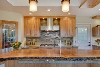 live wood edge island top - contemporary - kitchen - san francisco - by RemodelWest