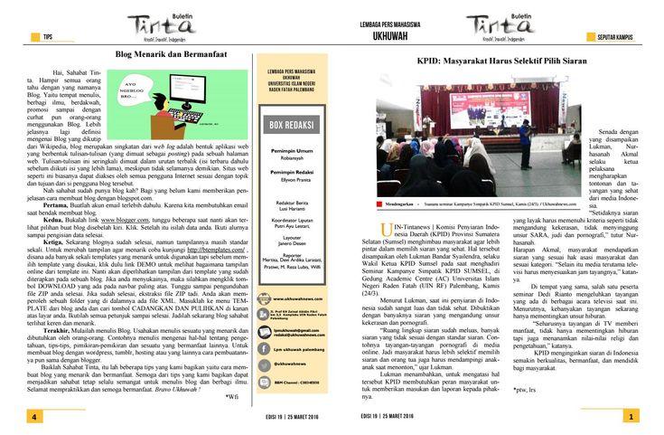 Buletin Tinta Edisi 19, 25 Maret 2016