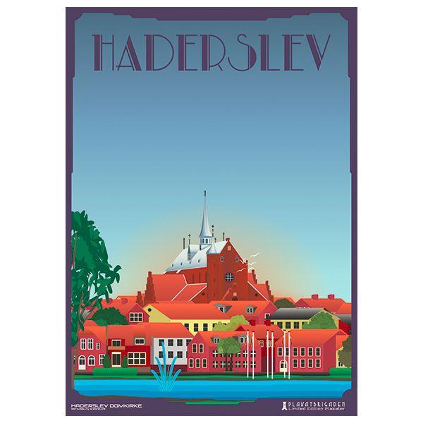 Limited edition plakat af Haderslev Domkirke