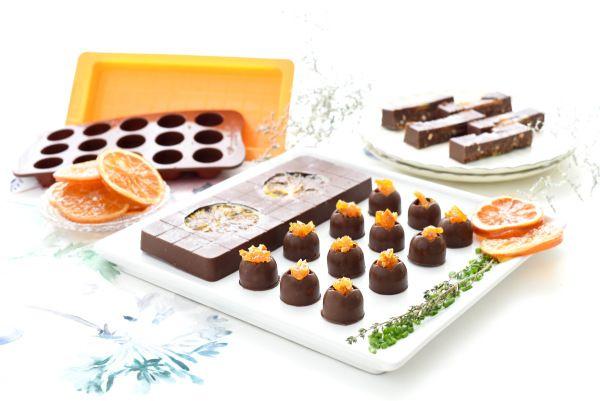 Turrón de chocolate con naranja confitada | Velocidad Cuchara