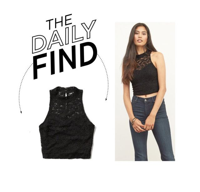 """""""Daily Find: Abercrombie & Fitch Lace Crop Top"""" by polyvore-editorial ❤ liked on Polyvore"""
