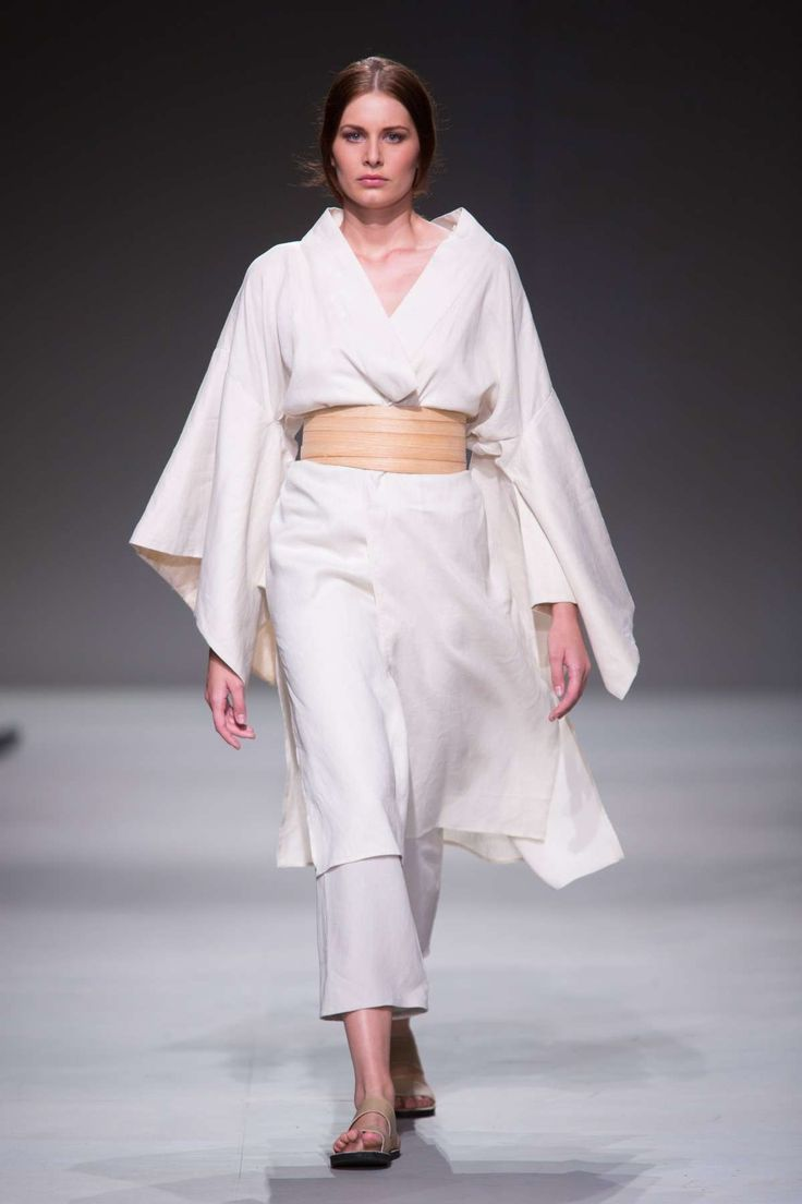 Linen kimono and wooden belt. Lunar SA Fashion Week Summer 2015 Collection | Lunar