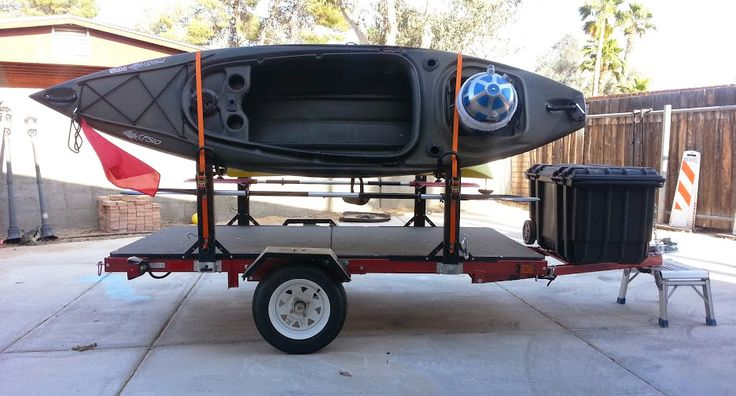 homemade kayak trailers