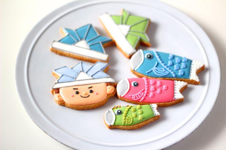 Boy's icing cookies.子どもの日、端午の節句アイシングクッキー