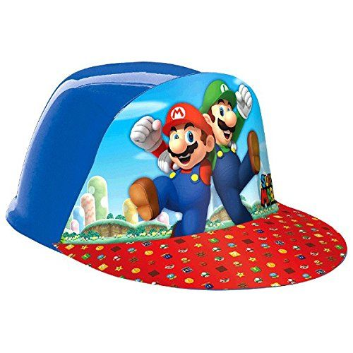 Amscan Super Mario Brothers Birthday Party Vac Form Cap A...