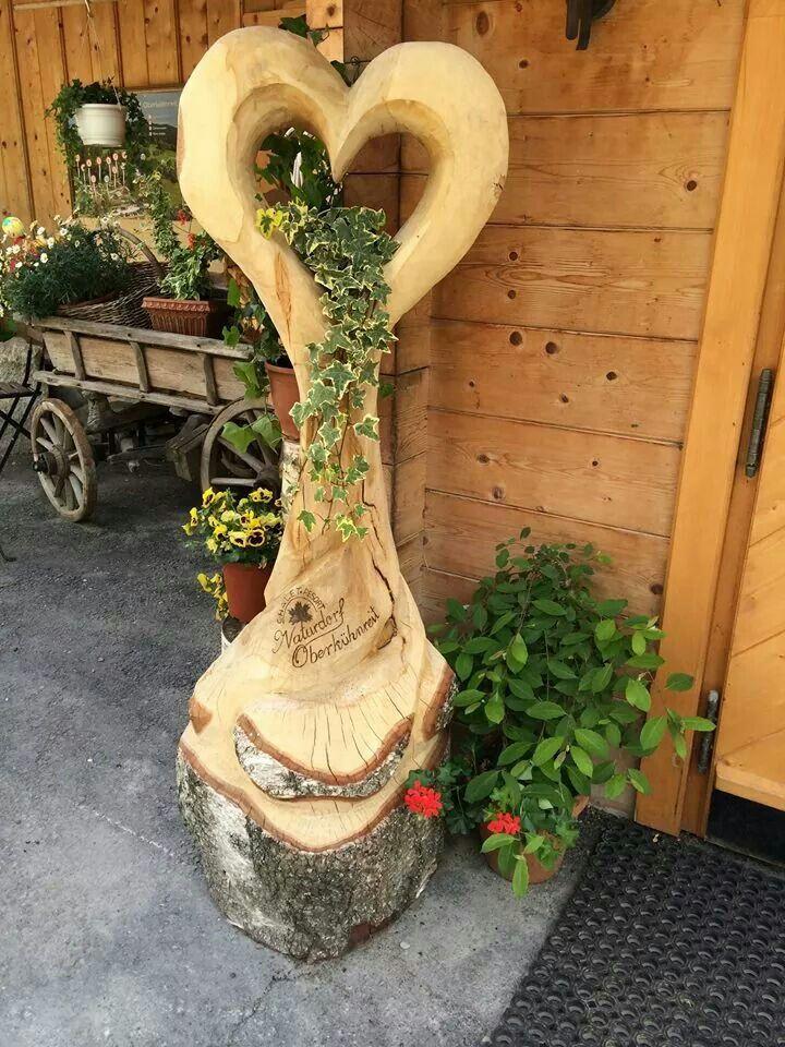 Holzherz Eingang