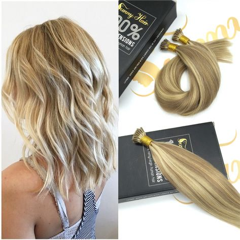 SunnyHair I Tip/Stick Tip Human Hair Extensions #16/22