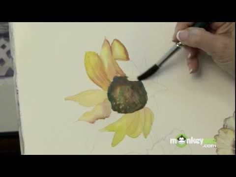 How to Paint Flowers with Watercolors - YouTube