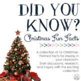 Did You Know Fun Facts For Your Classroom Christmas 3rd Grade Thoughts Christmas Classroom Christmas Facts For Kids Christmas Trivia