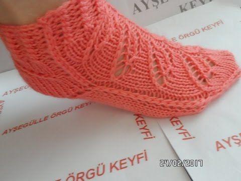 Dikişsiz çorap (İKİ ŞİŞ İLE)MODELİ
