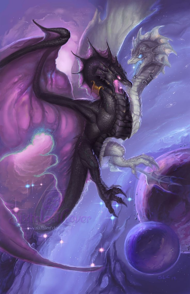 Zodiac Dragon . Gemini by =The-SixthLeafClover on deviantART ~ ♥ #dragons #fantasy #art