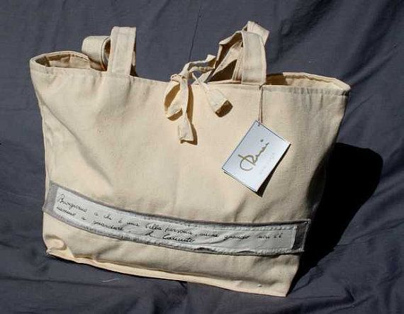 Handcrafted bag made in Italy from cotton by caryhandmade on Etsy, €35.00