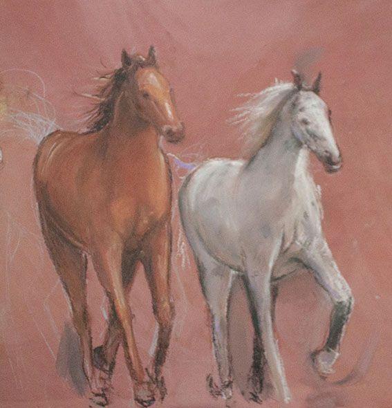 Pasquale Scognamiglio - Cavalli - particolare
