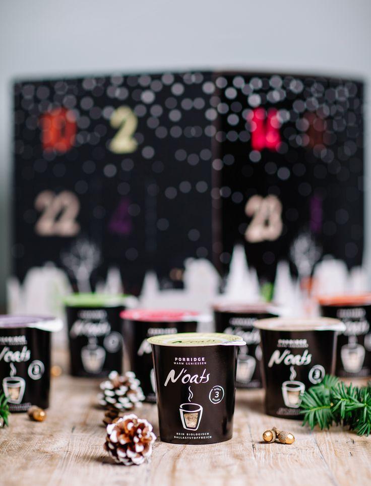 Unser N'oats #Adventskalender ist die perfekte Wahl für #Porridge-Liebhaber. Der herzerwärmende #Haferbrei schmeckt in der kalten Vorweihnachtszeit besonders lecker. Sieben Sorten N'oats2go aus Bio-Zutaten verbergen sich hinter den 24 Türchen, darunter Pflaume-Apfel-Zimt, Mohn-Vanille oder Himbeer-Kokos-Kirsch.  #mymuesli #oat #oatmeal #frühstück #weihnachten #advent #geschenke #geschenkideen