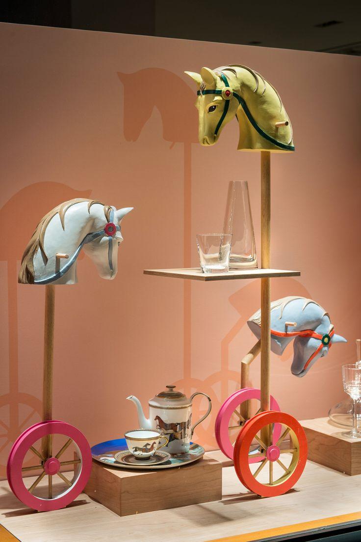 Hermes Window Display   Sporting Life by Millington Associates