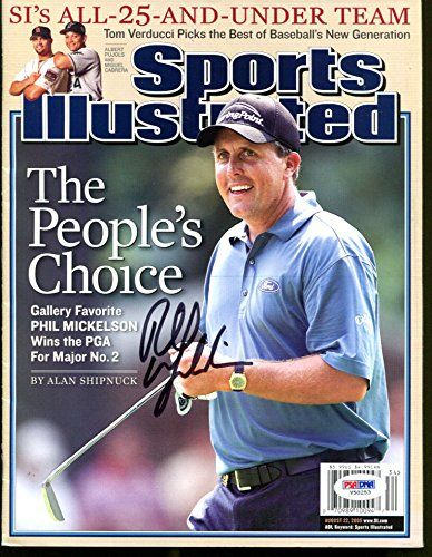 Phil Mickelson Signed 2005 Sports Illustrated Autograph No Label PSA/DNA V50253