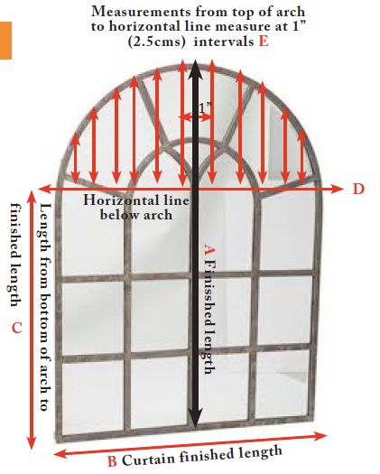 making curtains arched window measurements                                                                                                                                                                                 More