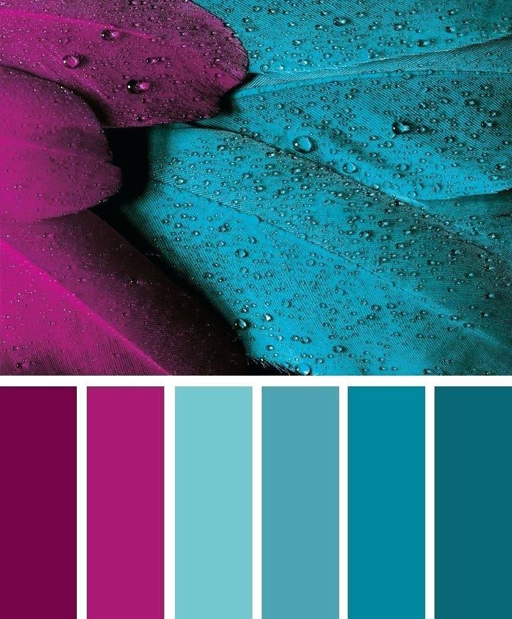 Yellow Room Color Palettes: Turquoise Color Combinations