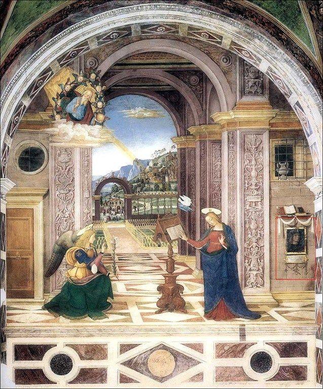 Pinturicchio · Annunciazione · Cappella Baglioni · Collegiata di Santa Maria Maggiore · Spello