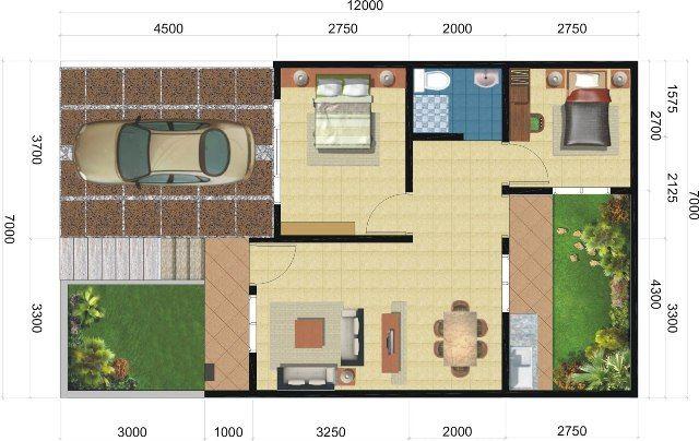 rumah minimalis type 45 9