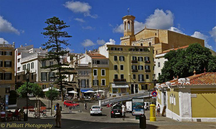 Mahon, Isla de Menorca,  Perched atop a steep bluff, Mahón overlooks a deep,well-trafficked harbor.
