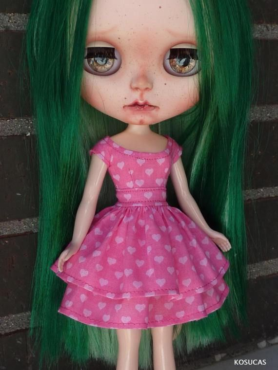 Dress for Neo Blythe dolls. por Kosucas en Etsy