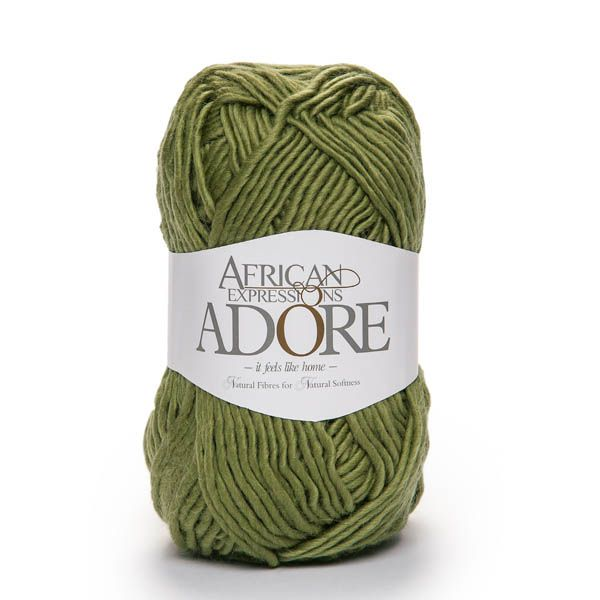 Colour Adore olive, Chunky weight,  African expressions 8258, knitting yarn, knitting wool, crochet yarn, kid mohair yarn, merino wool, natural fibres yarn.
