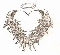 Heart with Angel Wings Tattoo - Instead of black in white ink... And smaller on my wrists