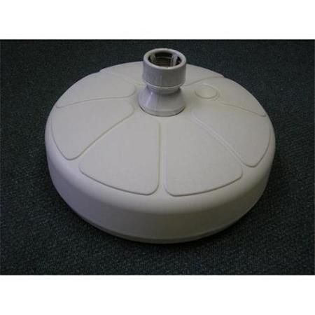 Semco Plastic Company UB-2W White Flower Umbrella Base