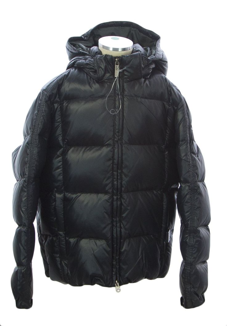 ADD Boy's Winter Jacket W/ Zipper Pockets 8 (6-7 Years) Black. Padded with European goose down 95/5.