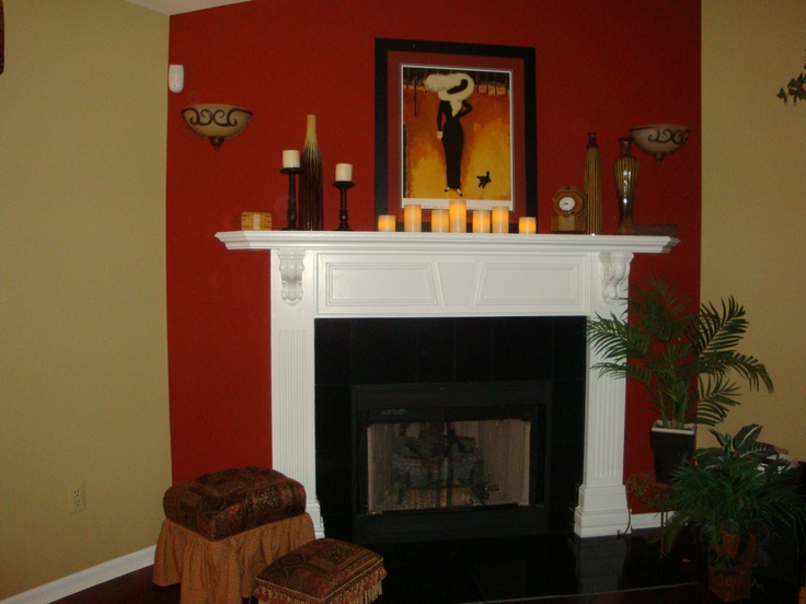 Custom Hand Made Fireplace Mantel Semi Gloss White