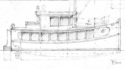Small Self-Powered House Barges and Shanty Boats Under 29'~ Small Boat Designs by Tad Roberts