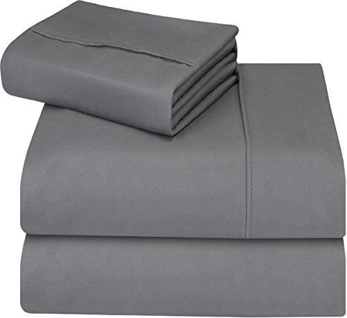 Utopia Bedding Soft Brushed Microfiber Wrinkle Fade and Stain Resistant 3-Piece Twin Bed Sheet Set - Grey -  We bring you luxury sheet set at an affordable price! Wrap up yourself in these carefully crafted 100% polyester brushed velvety microfiber sheet sets that are expertly manufactured for durability. The cozy and environment friendly sheet set is designed for both institutional and home use. These... #AffordableLuxuryBedding