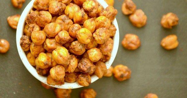 Minty &  Garlicky  Roasted Chickpeas