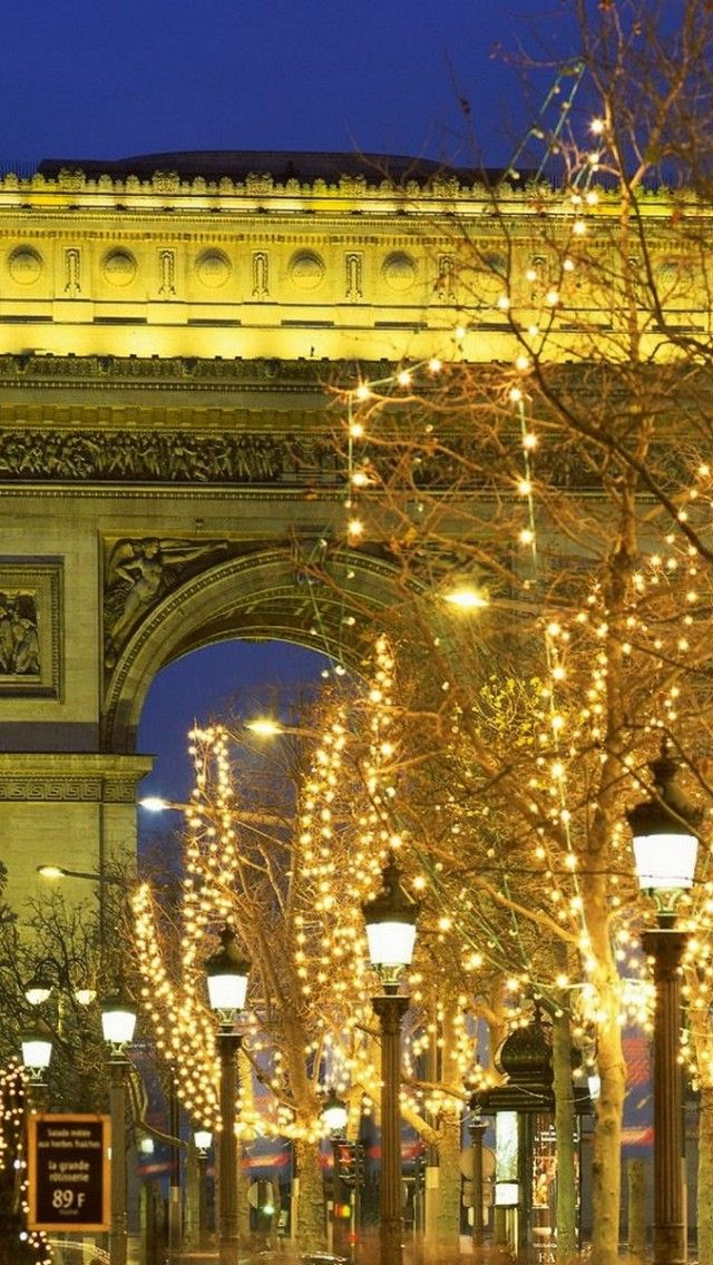 Arc de Triomphe and Champs Elysees, Paris